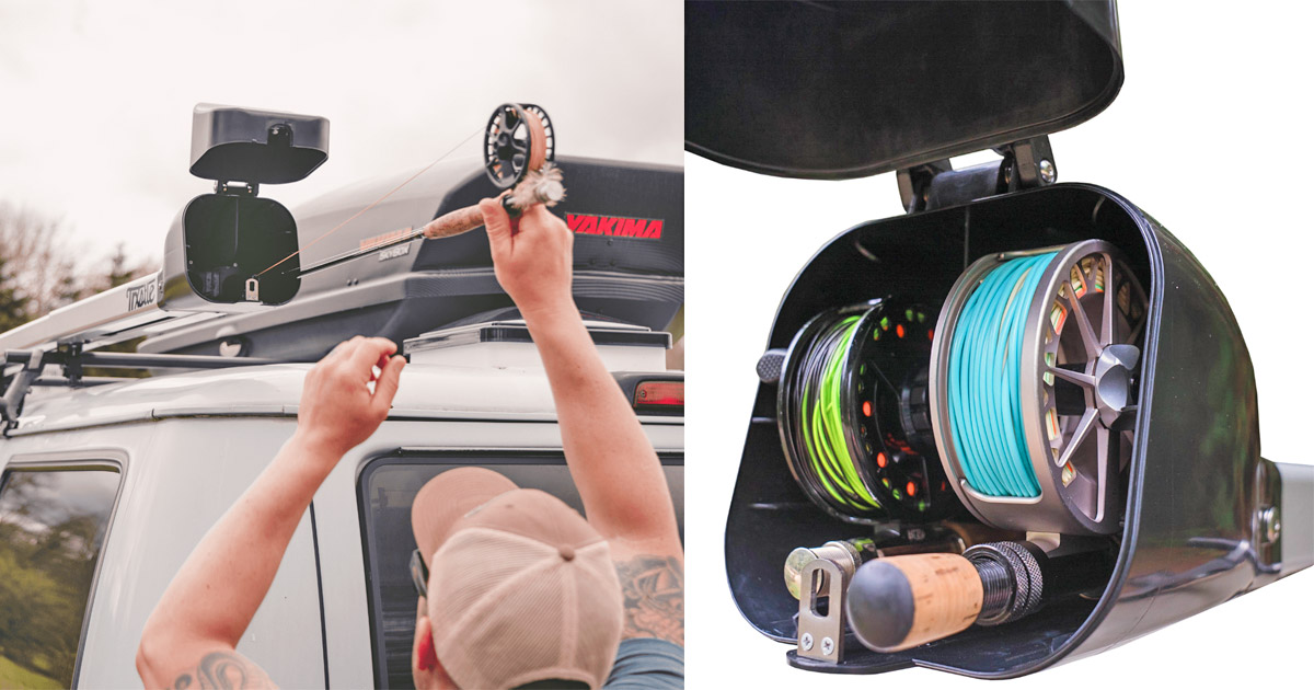 Car Rooftop Fishing Rod Holders Save Space and Prevents Damage