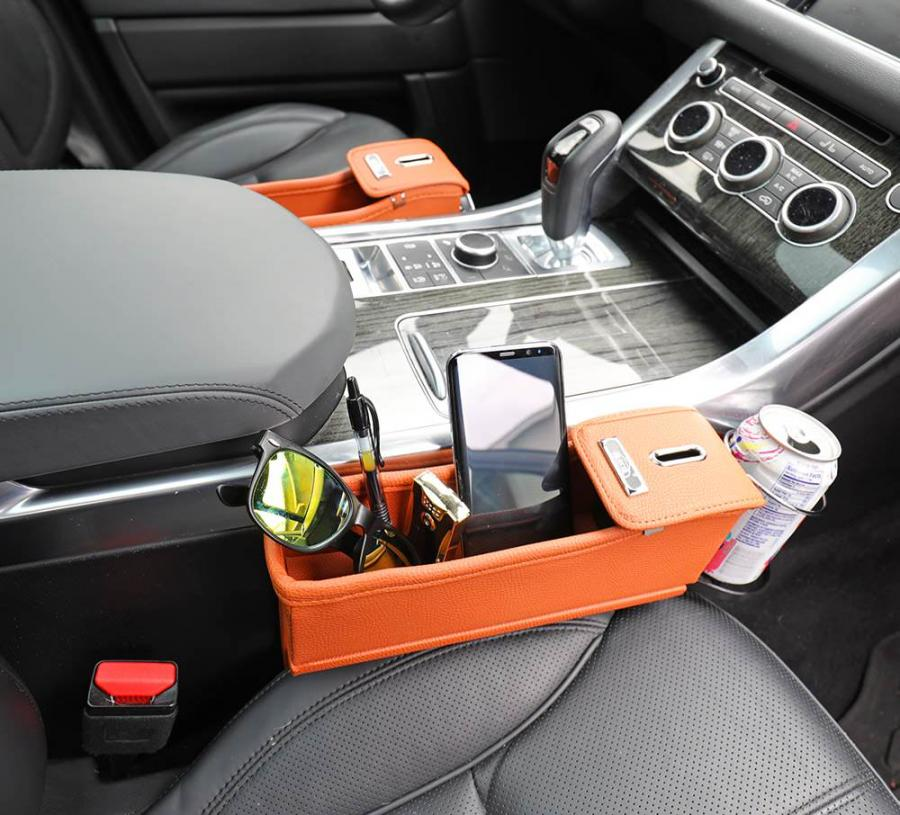 Car Seat Storage Pocket With Cupholders 2 Pack