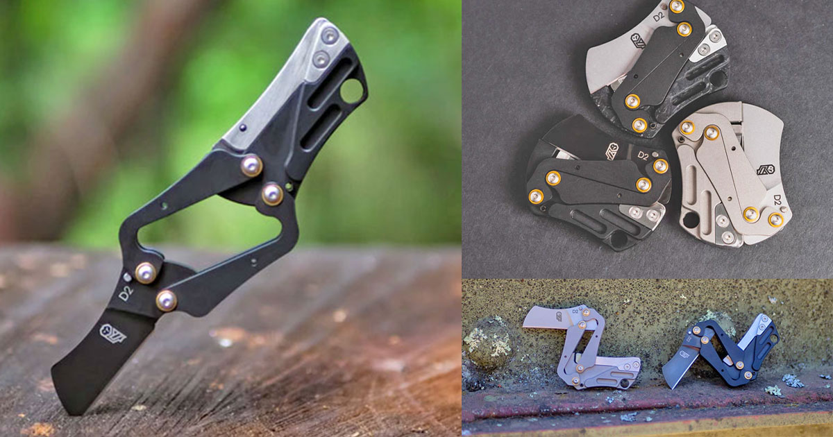 Carry Around This Nano Morphing Folding Knife That Opens To Give You a Full Grip Knife