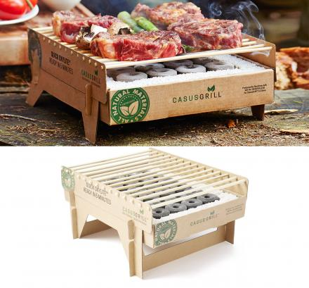 CasusGrill: Biodegradable, Portable and Disposable Mini Grill