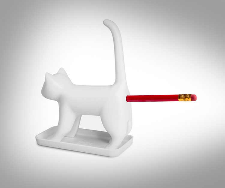 Meowing Cat Butt Pencil Sharpener Meows As You Twist Pencil