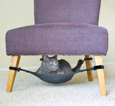 Cat Crib: An Under Chair Cat Hammock
