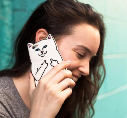 Cat Flicking You Off iPhone Case