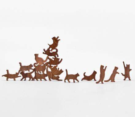 Cat Jenga: A Wooden Cat Stacking Game