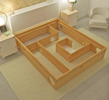This Cat Maze Bed Frame Lets Your Kitty Play While You Sleep