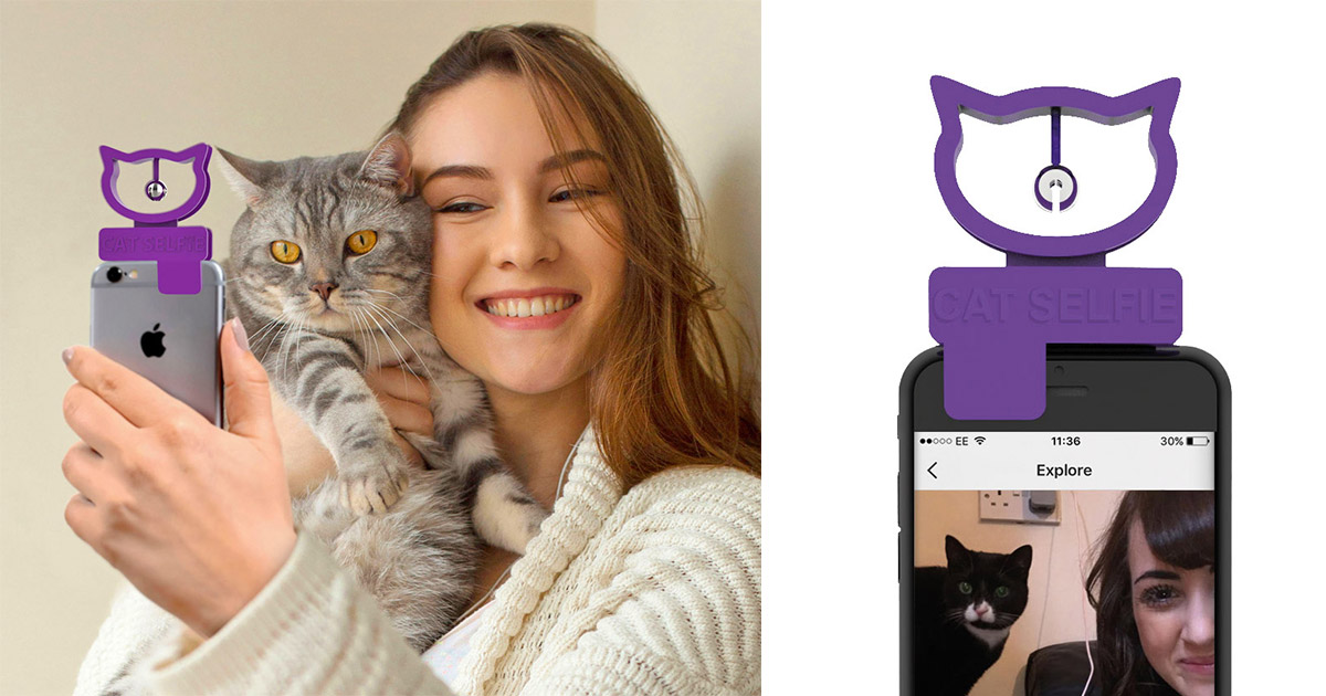 Cat Selfie Smart Phone Hanging Bell Attachment