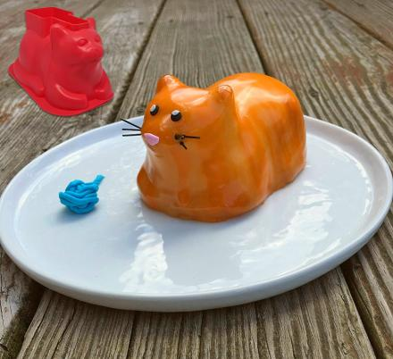 Cat Shaped Cupcake Molds (4-Pack)