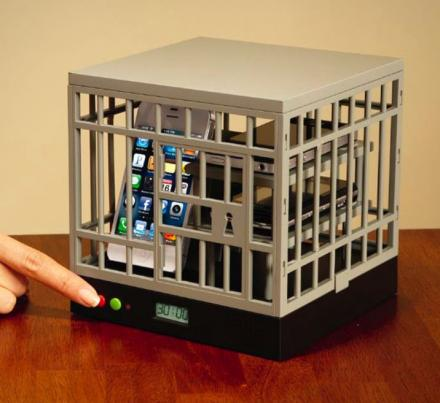 Cell Phone Cage To Lock Phones From Being Used