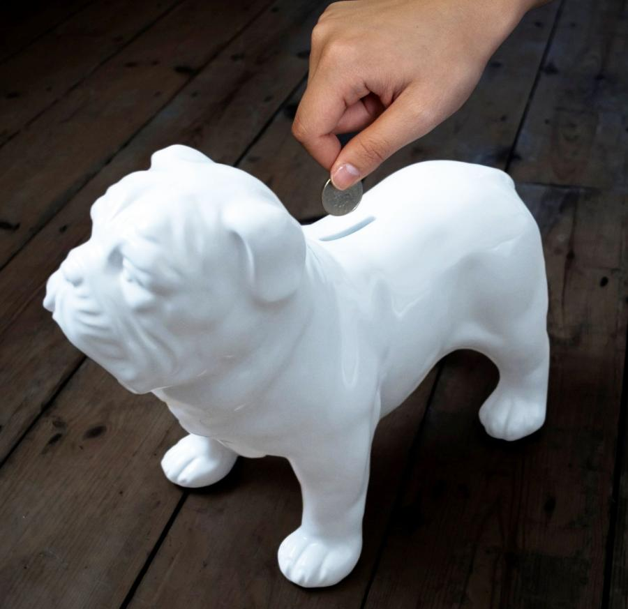 Ceramic Bulldog Coin Bank Enlarge Image