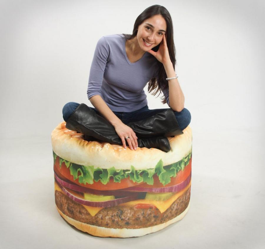 Simply Place The Cheeseburger Bean Bag Chair In Corner Of Your Room Haul Over A Plate Full Triple Stackers
