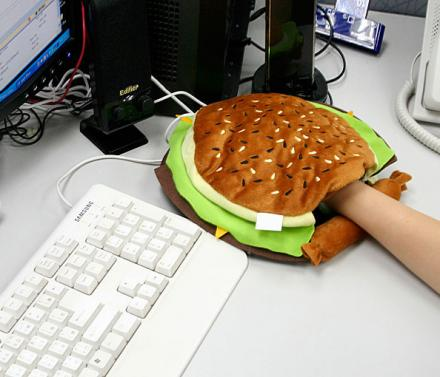 Cheeseburger Hand Warming Mouse Pad