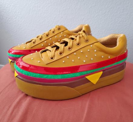 These Cheeseburger Shoes Turn You Into a Walking Big Mac