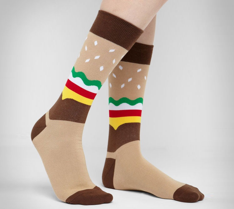 Cheeseburger Socks