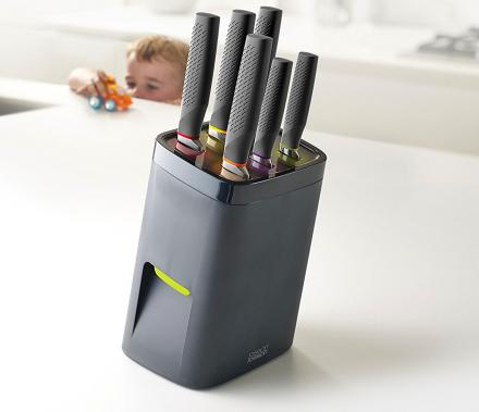 LockBlock: Child-Proof Knife Block Requires Adult-Sized Hands To Remove Knives