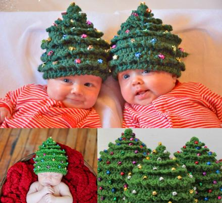 These Crochet Christmas Tree Hats Make The Perfect Hat For Newborn Holiday Photos