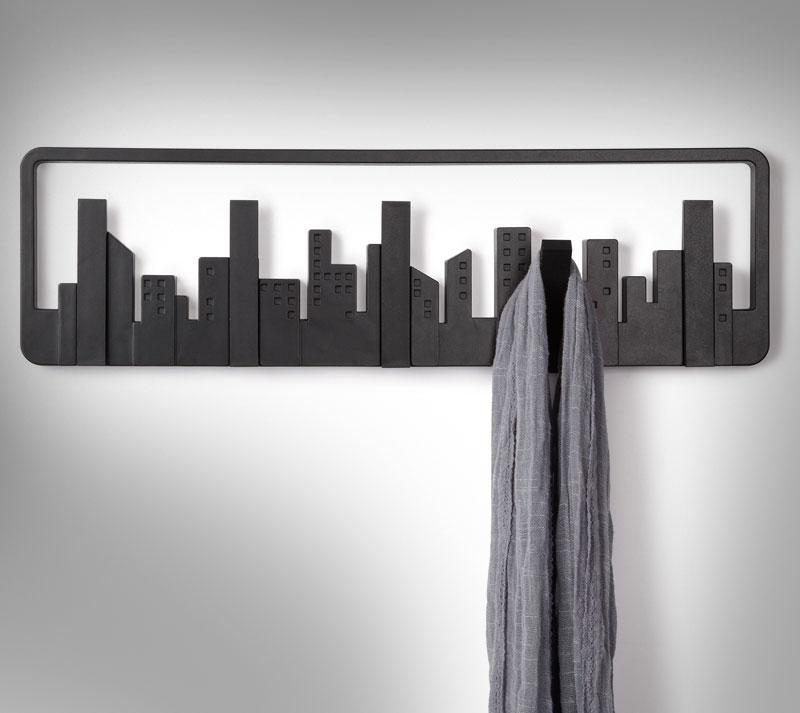 City Skyline Coat Hooks