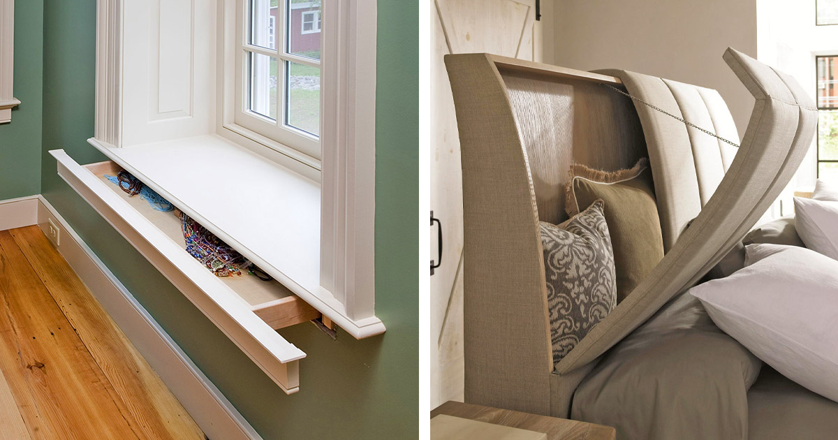 These Incredibly Clever Hidden Storage Ideas Will Make Great Use Of Your Home Space