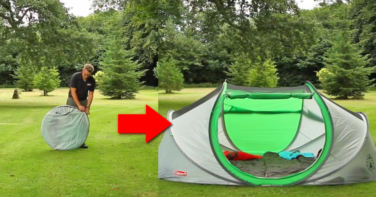 Coleman Has Made a 4-Person Pop-Up Tent That Sets Up Instantly