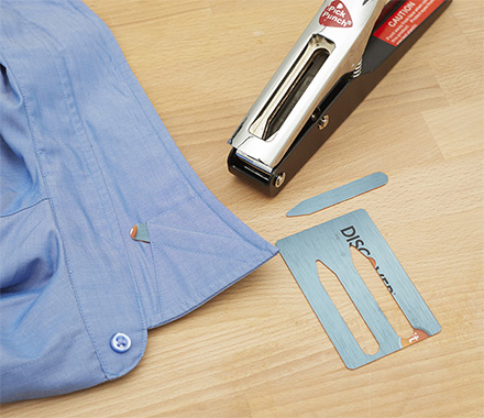 Collar Stay Punch: Make Collar Stays From Old Credit Cards