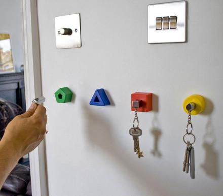 Colored Shapes Key Holders