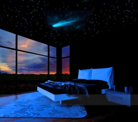Comet and Stars Glow In The Dark Ceiling Mural