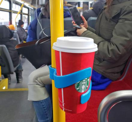 ComfyCup Holder: Portable Cup Holder For Use On Trains, Buses, and Subways
