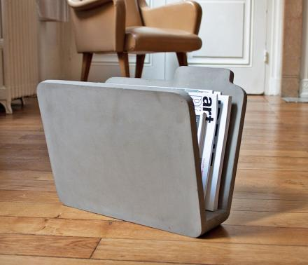 Concrete Manilla Folder Shaped Magazine Holder