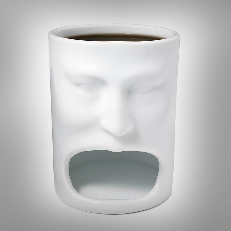 Cooking Holding Face Mug