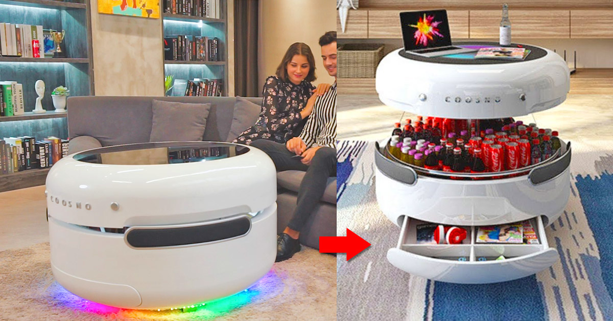 Coosno Is The Ultimate Smart Coffee Table That Doubles as a Fridge