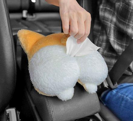 Corgi Butt Car Tissue Dispenser