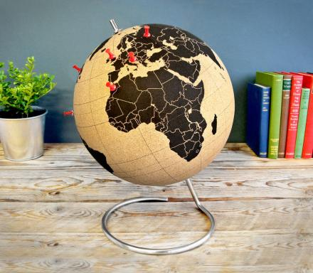 Cork Globe To Pinpoint Your Travels