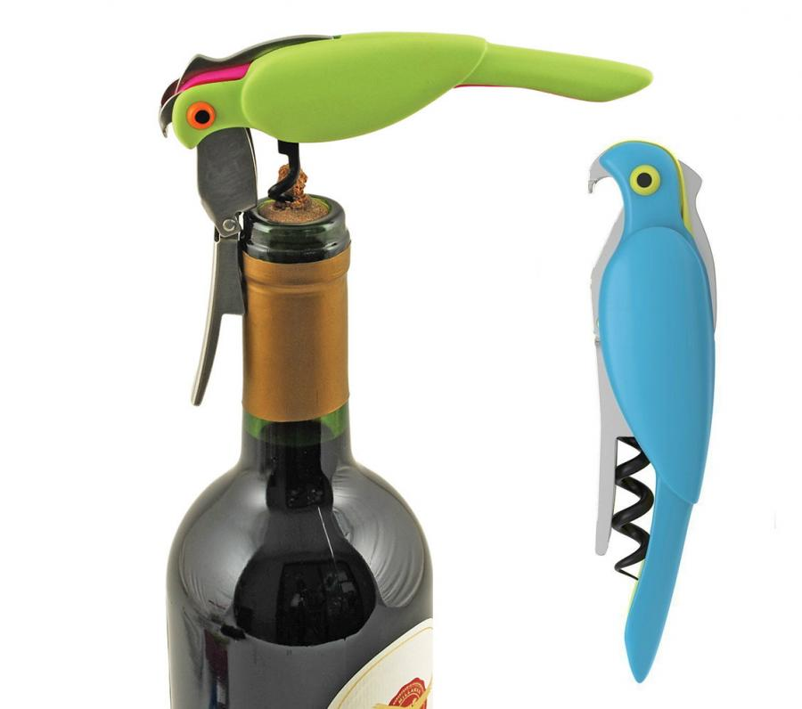 quite similar to the pirate corkscrew bottle opener that has a little parrot on his shoulder the corkatoo is a corkscrew and bottle opener that looks just - Bottle Opener
