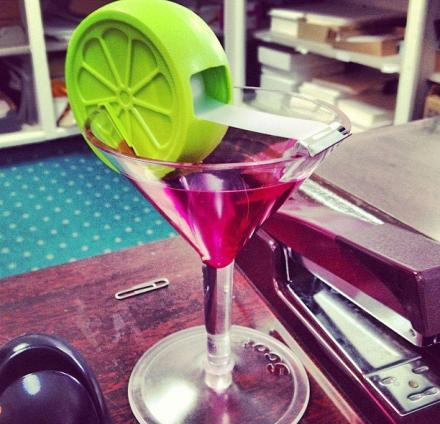 Cosmo Martini Glass Tape Dispenser