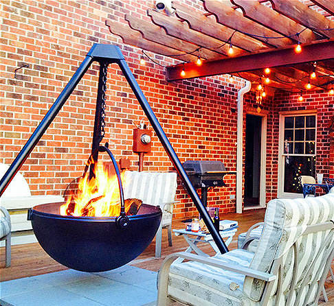 Cowboy Cauldron A Hanging Tripod Fire Pit Amp Bbq Probably
