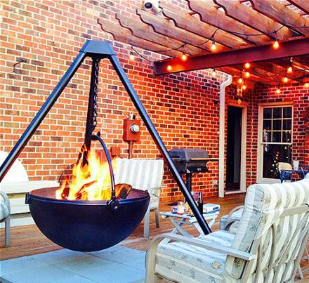 Cowboy Cauldron: A Hanging Tripod Fire Pit & BBQ (Probably The Manliest Thing You Can Own)
