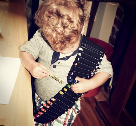 This Amazing Kids Crayon Bandolier Lets Your Children Always Have Crayons On-Hand