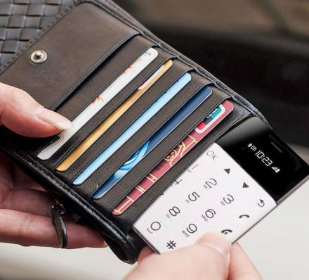 Credit Card Sized Phone Fits In Your Wallet