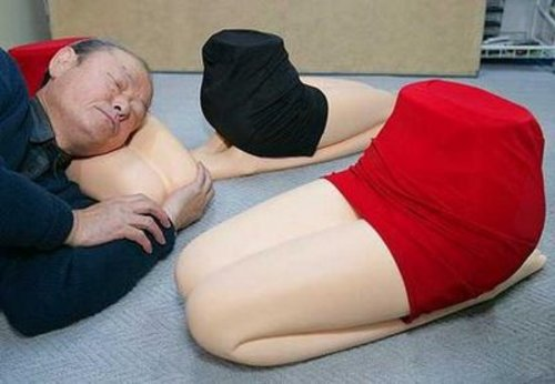 Creepy Asian Woman Legs Pillow