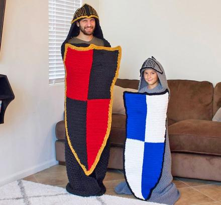 Crochet Blankets Turn You Into a Medieval Knight (Pattern)
