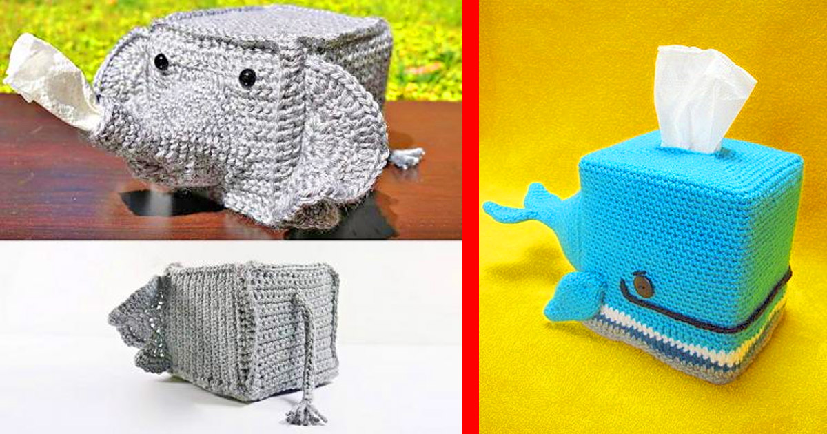 Ravelry: Crochet Cat Tissue Box Cover pattern by Ana Yogui | 630x1200