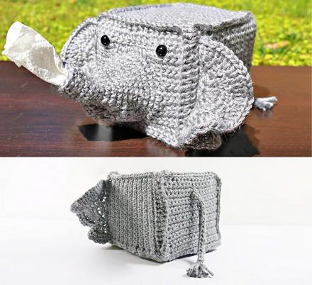 This Crochet Tissue Cover Turns Your Kleenex Box Into a Spraying Elephant Trunk
