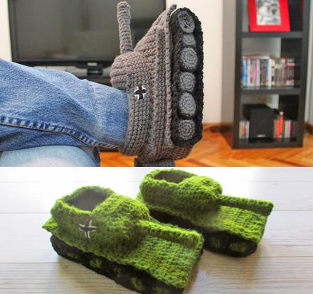 You Can Now Get Crochet Tank Slippers That'll Protect Your Feet From the Harsh Cold