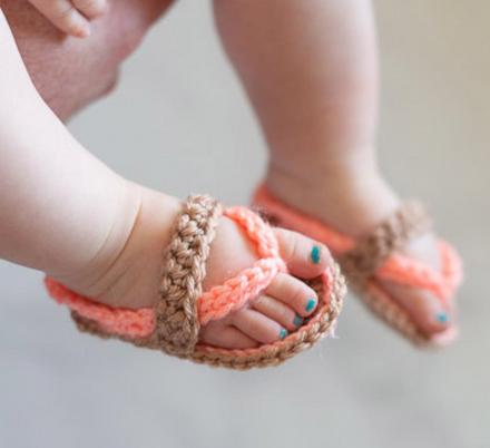 These Crochet Toddler Sandals Might Be The Most Adorable Things Ever