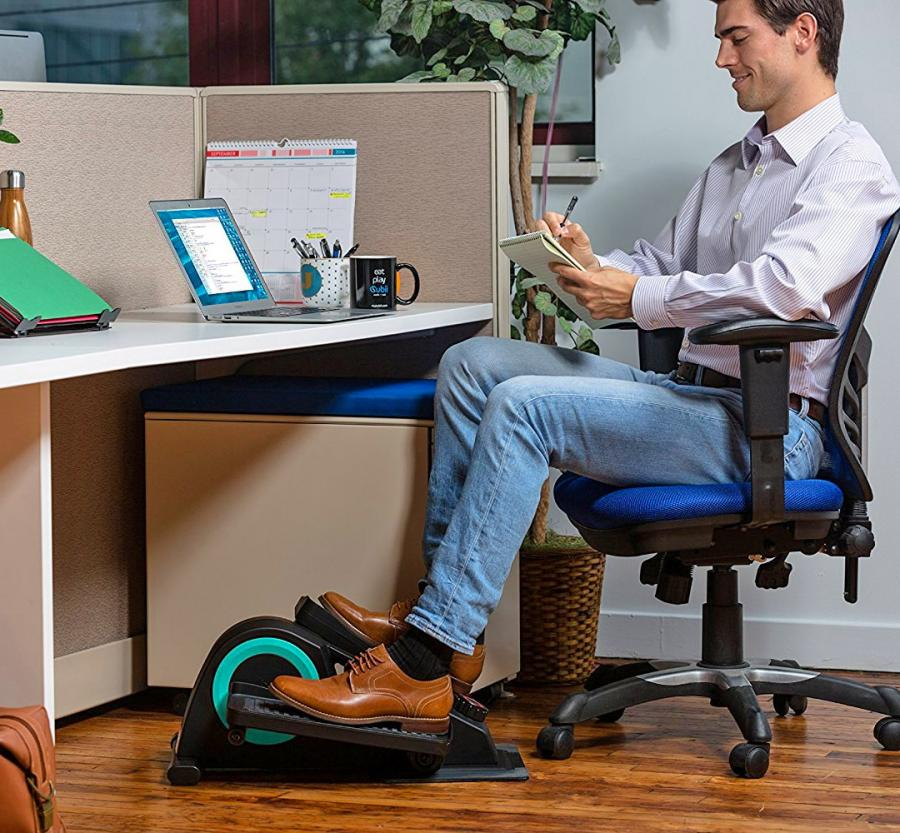 the desk product elliptical schlemmer hammacher under trainer