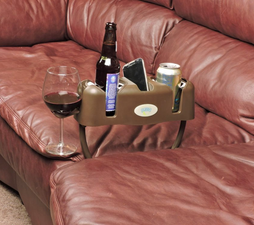 The Cupsy Is A Device That You Can Jam In Between Some Cushions On Your Couch So Continue To Live Sloth Like Lifestyle And Only Get Off