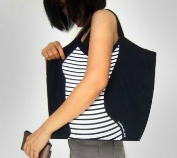 Body Shape Contour Canvas Bag