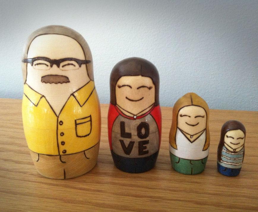 Custom Matryoshka Dolls Of Your Family
