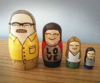 Custom Matryoshka Dolls Of Your Family