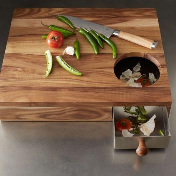 Cutting Board With Storage Drawer