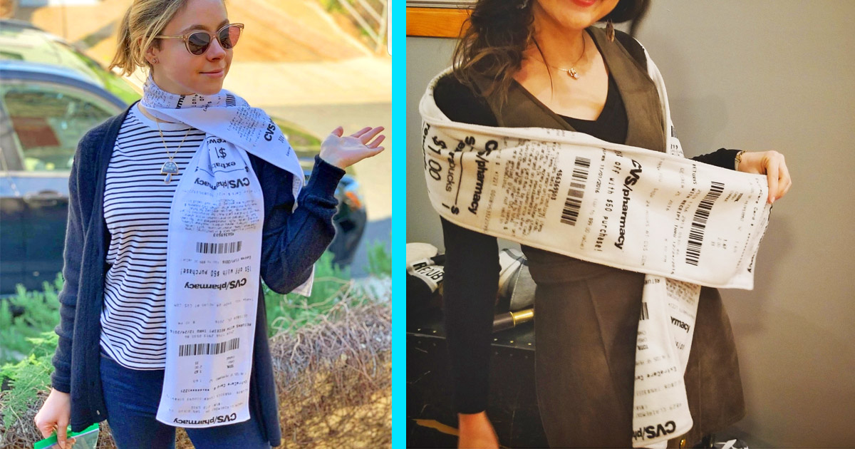You Can Now Get a Scarf Made To Look Like The Infamously Long CVS Receipt